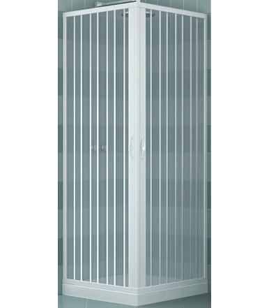 Box doccia estensibile in PVC - a 2 lati 2 ante con apertura angolare - Linea Lux Luna
