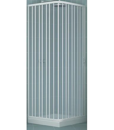 Box doccia estensibile in PVC - a 2 lati - anta unica con apertura laterale - Linea Lux Luna
