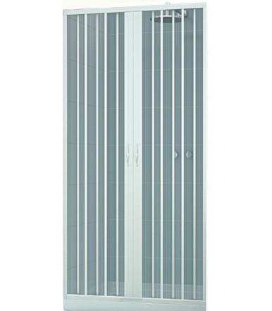 Box doccia estensibile in PVC - 2 ante con apertura centrale - Linea Lux Venere