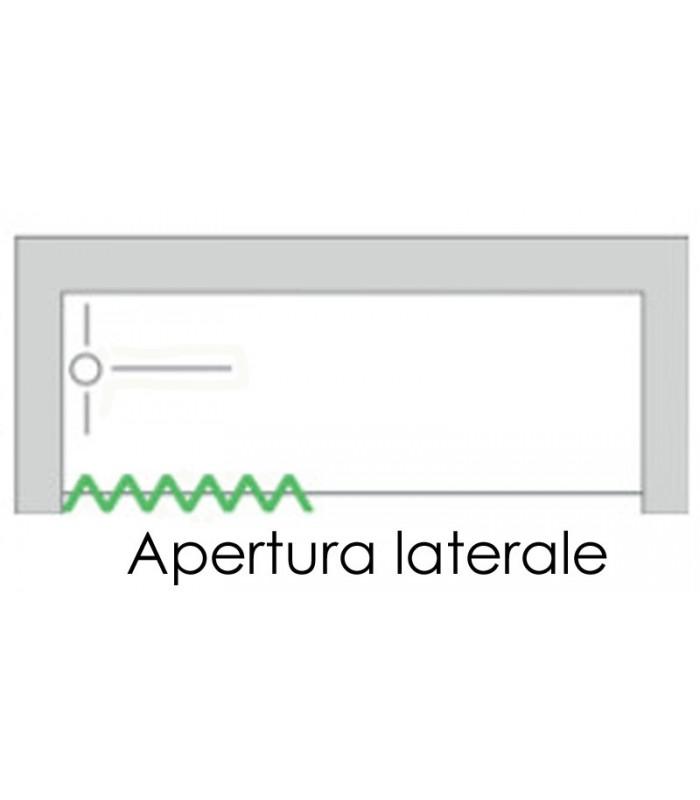 Box vasca estensibile in PVC - anta unica con apertura laterale - Linea Lux Astra - Mancini ...