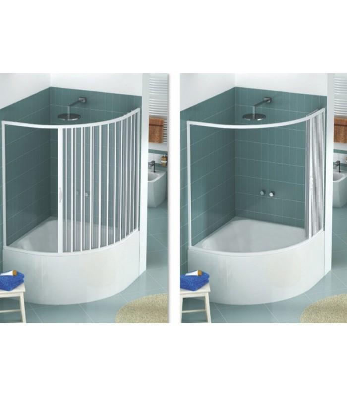 Box vasca estensibile in pvc semicircolare anta unica - Vasca da bagno con apertura laterale ...