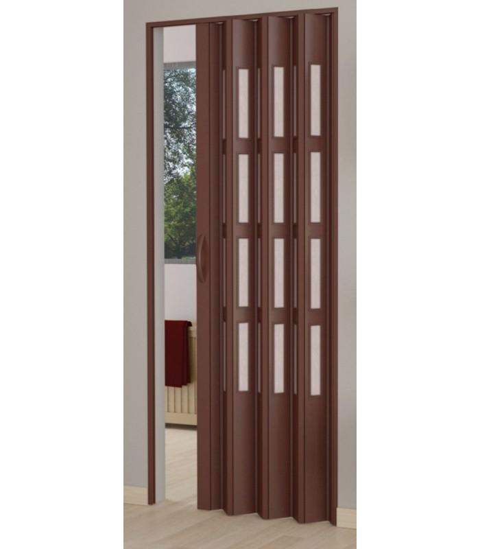 Porta a soffietto in kit anta unica reversibile in pvc con for Porte a soffietto su misura leroy merlin