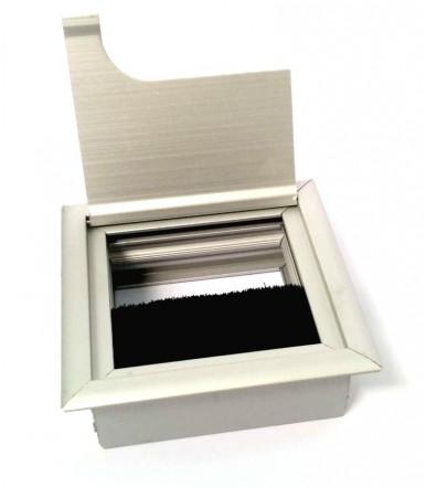 Passacavi quadro con spazzola antipolvere 80x80 mm
