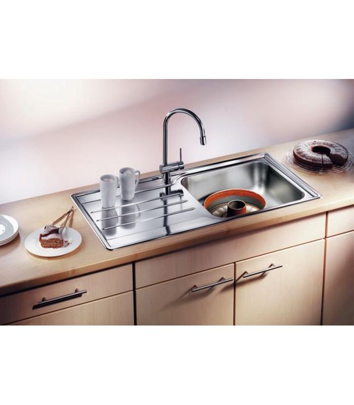 Lavello rettangolare per cucina acciaio inox blanco median - Cucina in acciaio ...