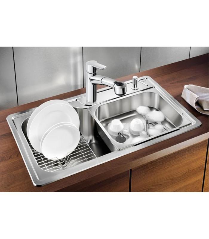 Lavello rettangolare da cucina acciaio inox blanco plenta - Accessori da cucina ...