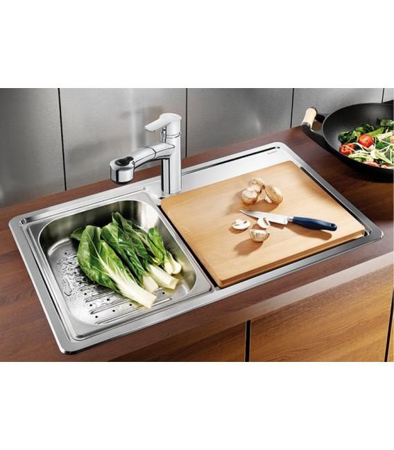 Lavello rettangolare da cucina acciaio inox blanco plenta for Cucina shop