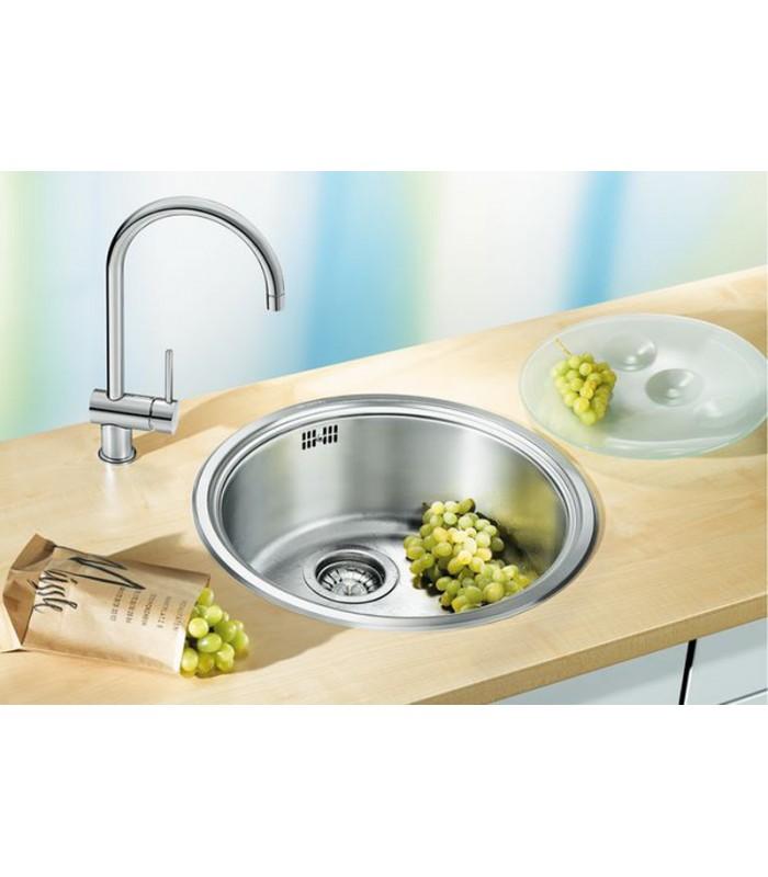 Lavello tondo da cucina acciaio inox blanco rondosol for Lavello acciaio