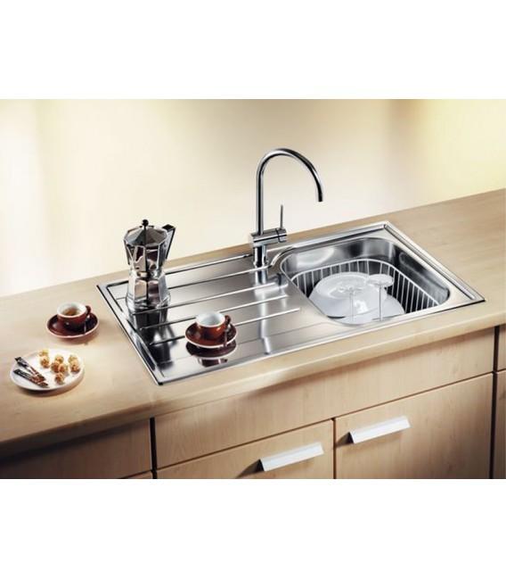 Lavello rettangolare per cucina acciaio inox blanco median for Accessori cucina acciaio