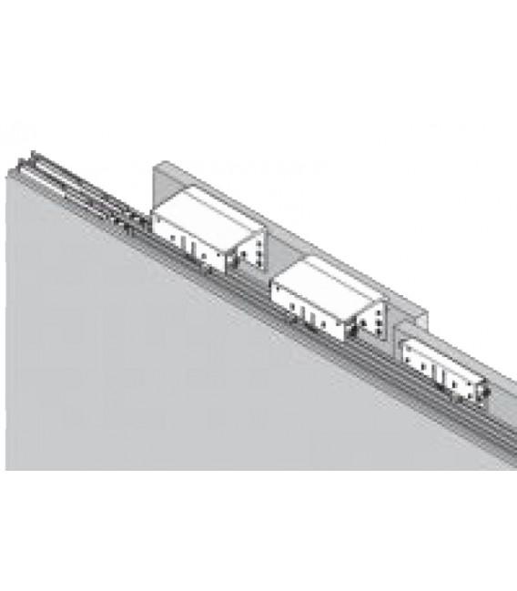 Kit 2 carrelli per armadio con anta scorrevole Interna ammortizzata Koblenz System 9400 5