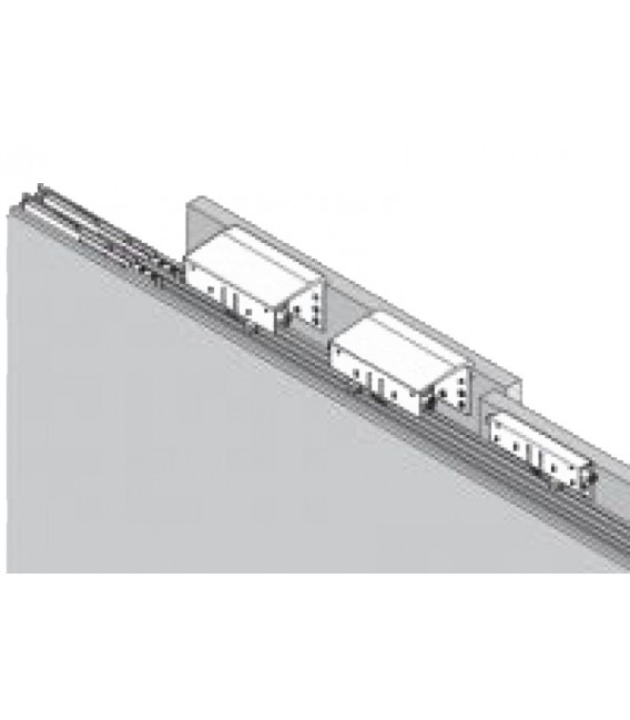 Kit 2 carrelli per armadio con anta scorrevole Esterna ammortizzata Koblenz CaimiExport System 9400 6