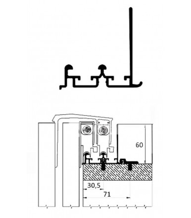 binario koblenz system 0400 a cm mancini mancini shop. Black Bedroom Furniture Sets. Home Design Ideas