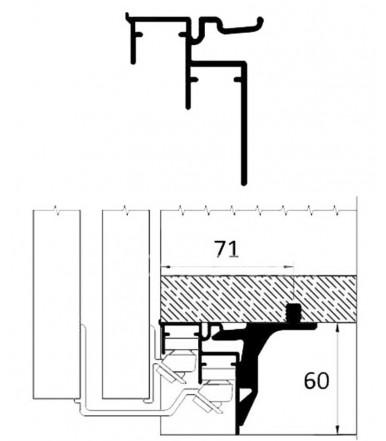 Binario guida inferiore per anta scorrevole CaimiExport