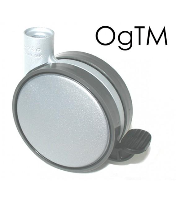 Piede Faggio Naturale 250 mm con ruota OgTM Ø 80 con freno