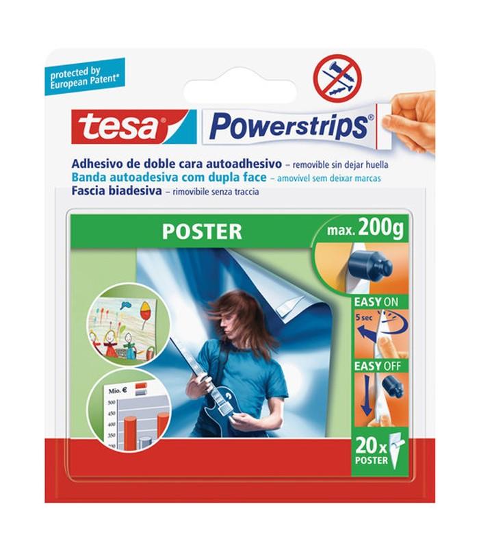 tesa powerstrips poster self adhesive double sided strips white mancini mancini shop. Black Bedroom Furniture Sets. Home Design Ideas