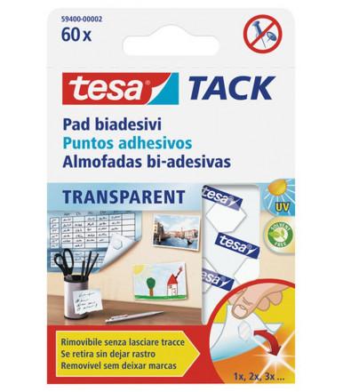 Cuscinetti biadesivi trasparenti per cartoline e oggetti leggeri TACK Tesa