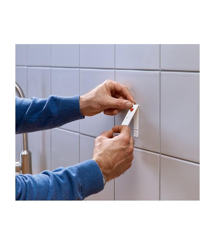 chiodi adesivi regolabili bianchi per piastrelle e metallo