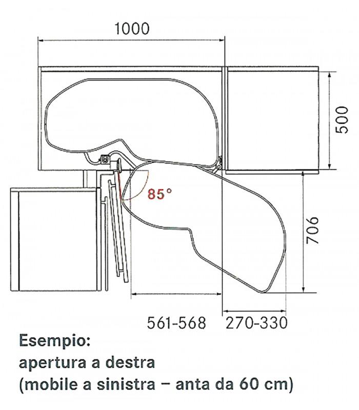 Kesseböhmer Set 2 trays swing for corner cabinets unit solution ...