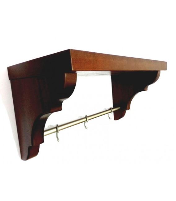 regal mahagoni k che mit bar und haken mancini mancini. Black Bedroom Furniture Sets. Home Design Ideas