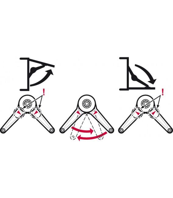 Set completo braccetto Duo Standard per ante a ribalta Häfele 373.66.612