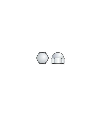 Dado esagonale cieco con calotta sferica, in acciaio zincato Tecfi