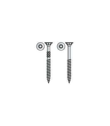 Vite TPS Tecfi con impronta a 6 lobi per truciolare in acciaio, Zincata bianca