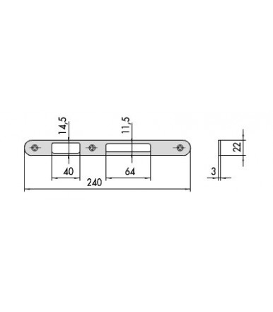 Set contropiastre in acciaio Cisa 07174