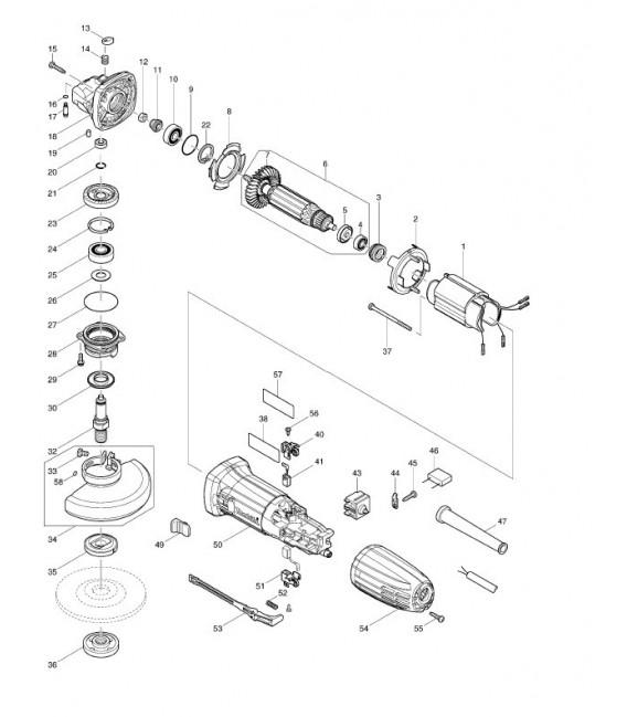 Componenti e ricambi originali Makita