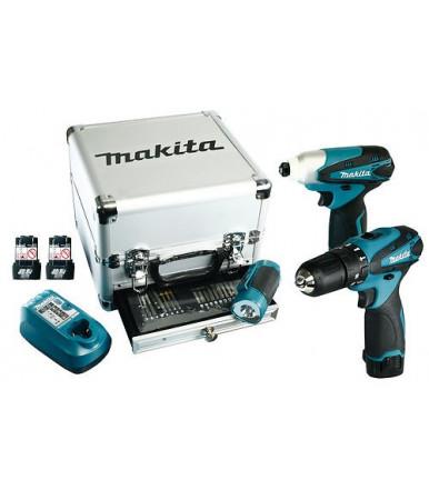 Kit Trapano avvitatore Makita DK1485X3 con 3 batterie e torcia