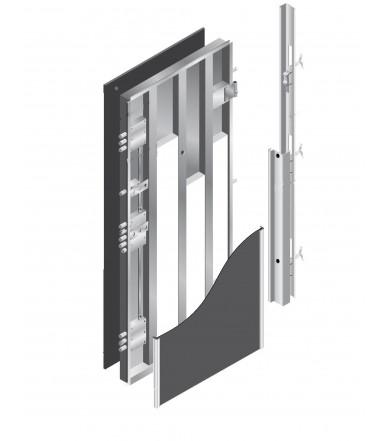 Porta pail alisea ln bianco interna in decorato con telaio - Guarnizione porta blindata ...