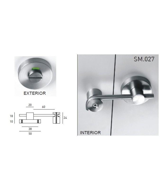 Chiusura bagno per porta scorrevole con indicatore jnf - Chiusura per porta scorrevole ...