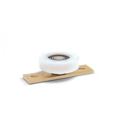 Ruota in nylon piana con cuscinetto e piastra RNP Rolling Center