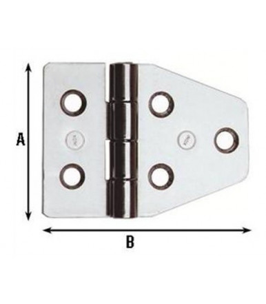Aldeghi Stainless Hinges Nautical Furniture 40x55 852IN