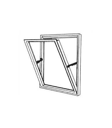 Braccio a scatti regolabile per finestra wasistas IBFM art.341 apertura all'interno