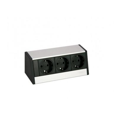 Multipresa da scrivania esterna R-Dock SMALL 3 prese schuko EVOline