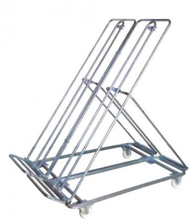 Carrello espositore per ortofrutta TWIN zincato 2 ruote fisse e 2 girevoli Ø mm 100 Art.140Z