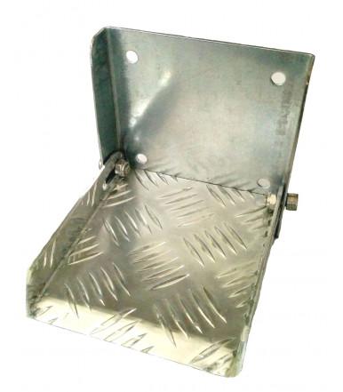 Retractable folding step galvanized 135x150x140 mm