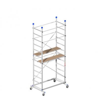 Marchetti ZEUS scaffold aluminum H3,60 M 2 half-planes and 4 wheels Ø 125