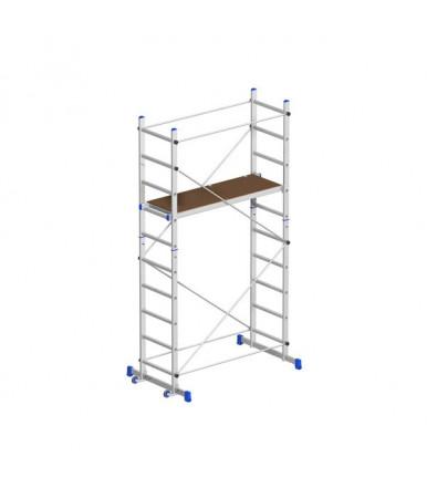 Marchetti TEAM ECO scaffold aluminum H2,90 M 2 stabilizing bases and 2 wheels