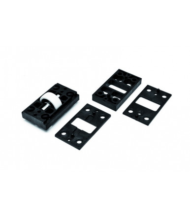ESINplast Base with casement support wheel with various shims, capacity 30 kg