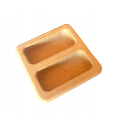 Wooden recessed square handles