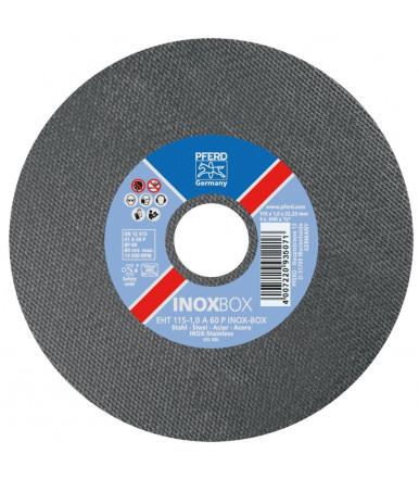 Box 25 pezzi Disco da taglio acciaio inox Ø 115 PFERD EHT 115-1,0 A60 P