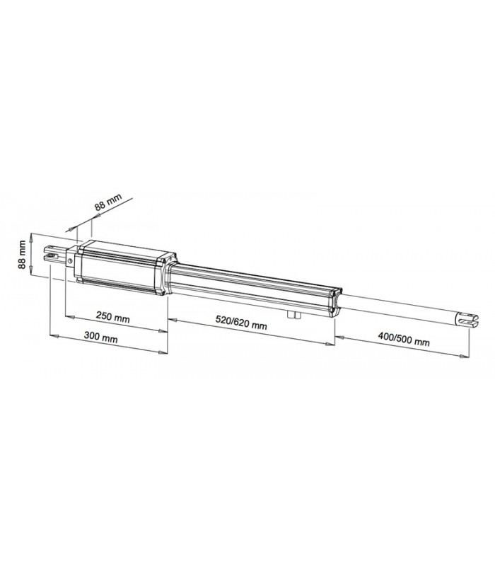 vds linear11 linear actuator electromechanical operator suitable for gates and doors with swing