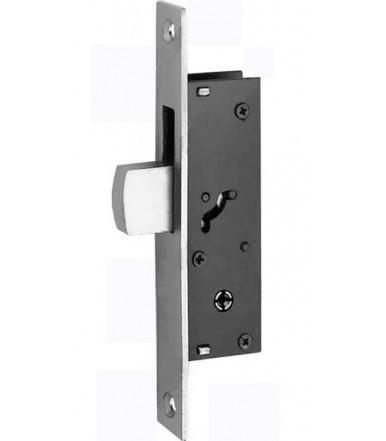 Serratura da infilare con catenaccio basculante e cilindro per serramenti in alluminio 303 K