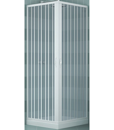 Extensible shower box PVC - 2 sides 2 shutters with angular opening - Lux Line Luna