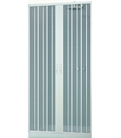 Extensible shower box PVC - 2 shutters with central opening - Lux Line Venere