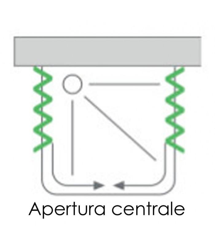 Box Doccia Saturnia 3 Lati.Box Doccia Estensibile In Pvc A 3 Lati 2 Ante Con Apertura Centrale Linea Lux Saturnia