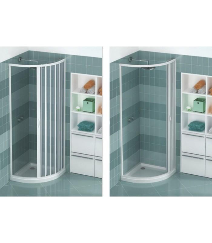 Box Doccia In Pvc.Extensible Shower Box Pvc Semicircular Single Shutter With Side