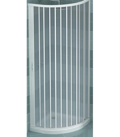 Box doccia estensibile in PVC - semicircolare - anta unica con apertura laterale - Linea Lux Giove
