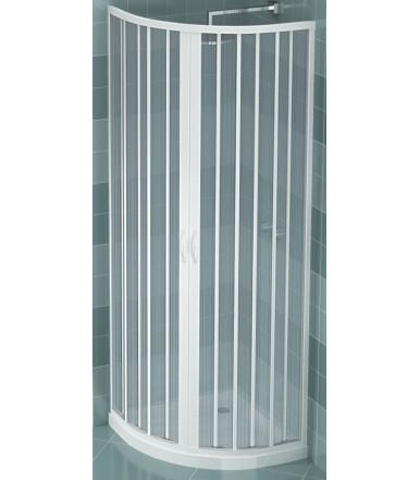 Box doccia estensibile in PVC - semicircolare - 2 ante con apertura centrale - Linea Lux Giove