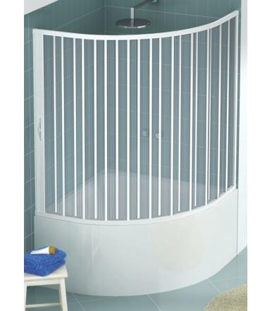 Box vasca estensibile in PVC - semicircolare - anta unica con apertura laterale - Linea Lux Diana
